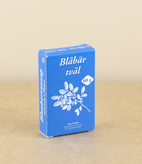 Finnish bilberry or blueberry soap