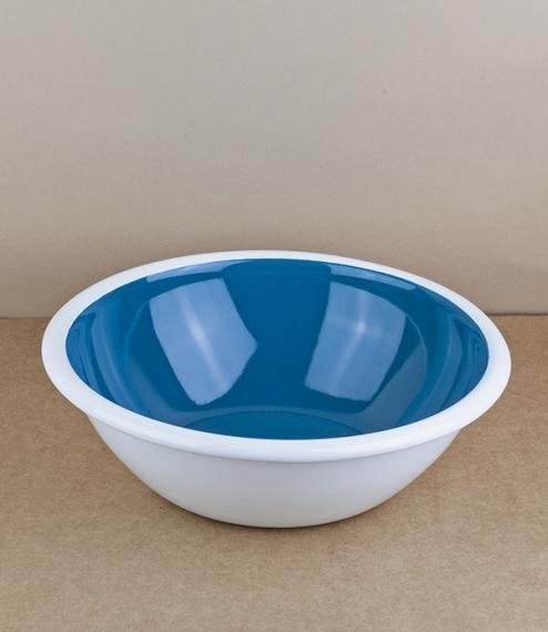 Turkish enamel ocean blue or mandarin salad bowls