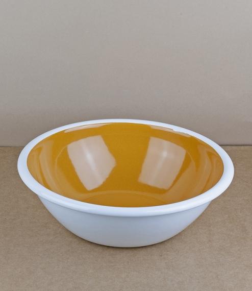 Mandarin enamel salad bowl, 20cm