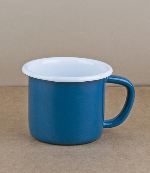 Turkish enamel ocean blue or mandarin mugs