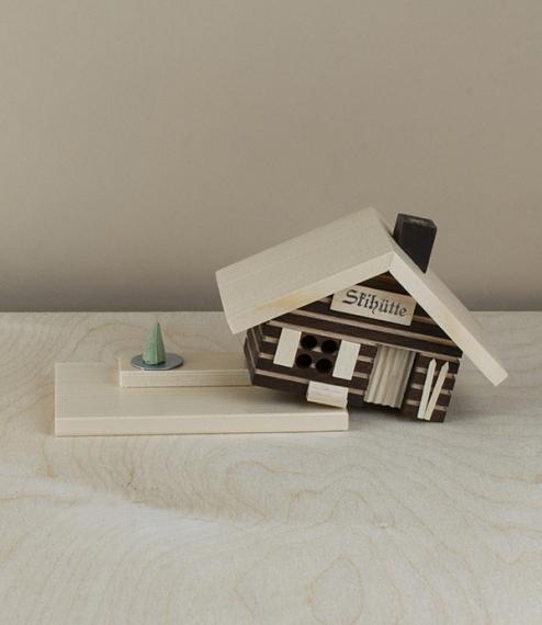 Wooden smoking house, incense burner