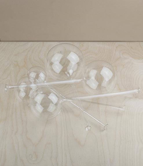 Blown glass watering bulbs