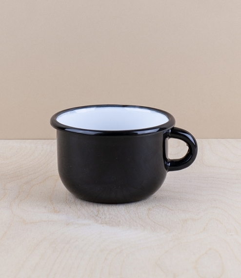 Ukrainian enamel low mugs, 0.25l