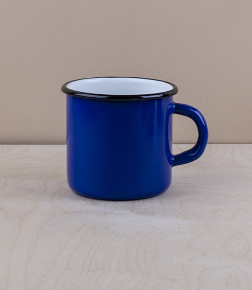 Ukrainian enamel mug 0.4l, blue