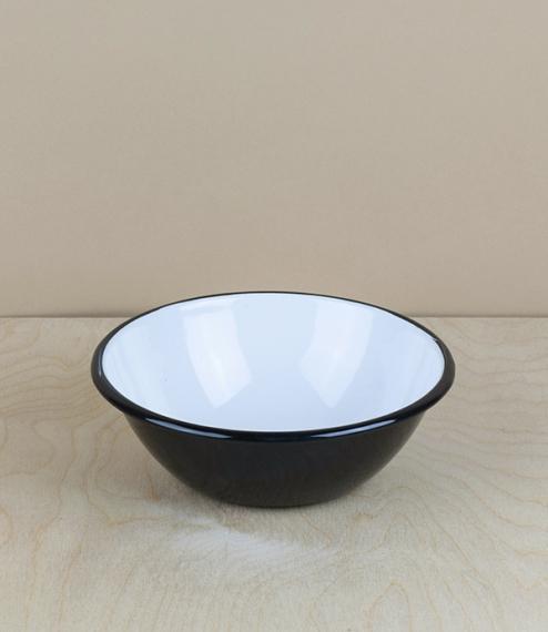 Ukrainian enamel bowl, 15cm, black