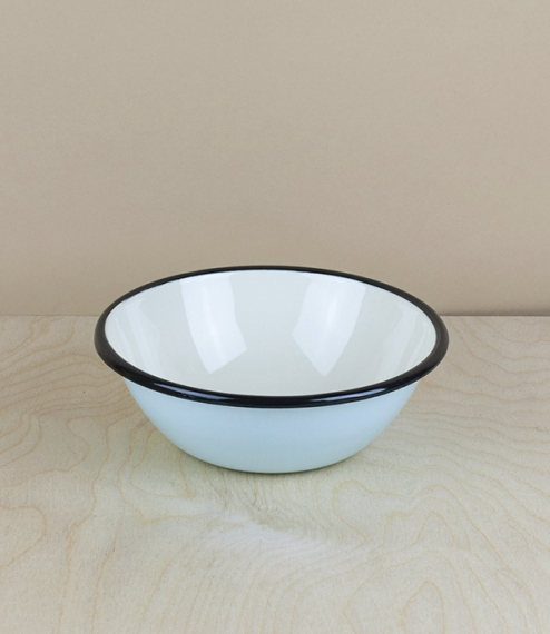Ukrainian enamel bowl, 15cm, light-blue