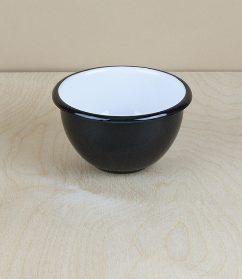 Ukrainian enamel bowl, 10cm, black