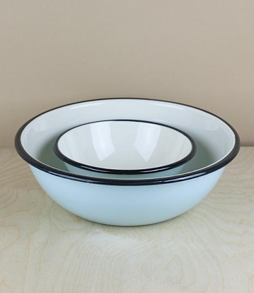 Ukrainian enamel bowls – 24cm diameter
