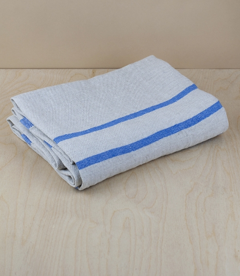 Finnish 100% washed linen flat weave bath towel