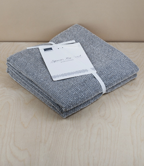 Finnish linen/cotton friction towels and wash mitt
