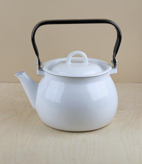 Ukrainian enamel kettles, 2 litres