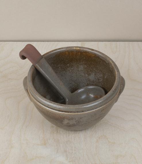 Portuguese terracotta sauce ladle