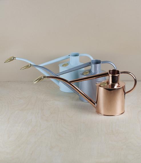 Copper indoor watering can, 1 litre
