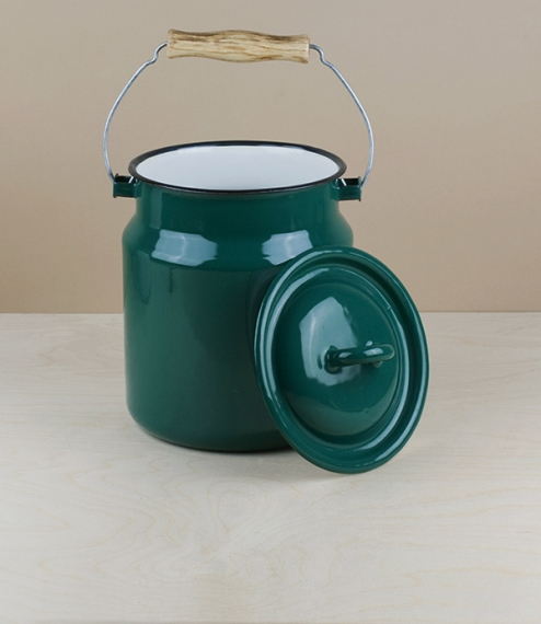 Ukrainian milk cans / kitchen caddies