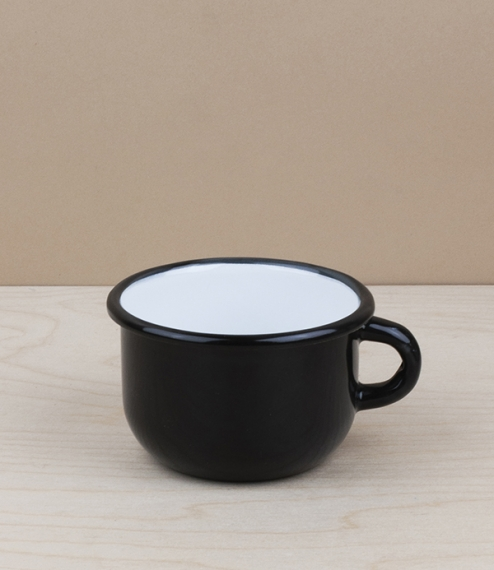 Ukrainian enamel low mugs, 0.25l