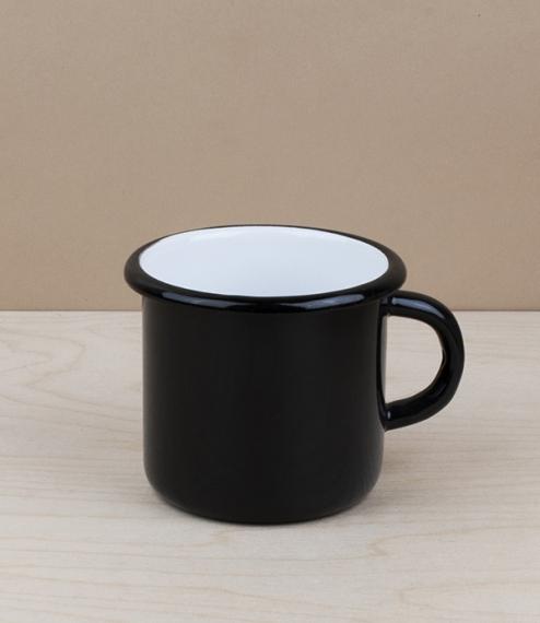 Ukrainian enamel mug 0.4l, black