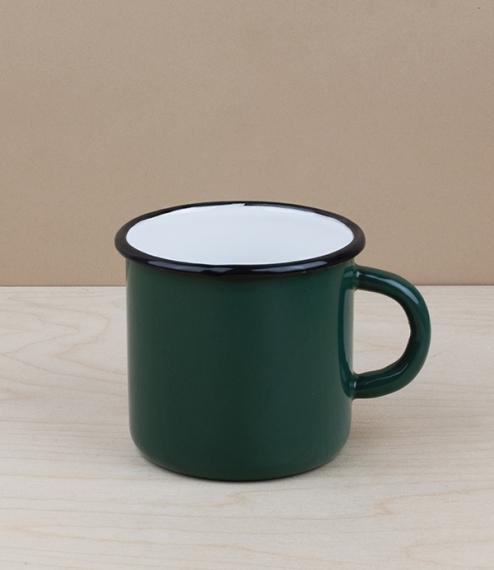 Ukrainian enamel mug 0.4l, green