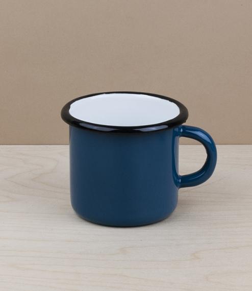 Ukrainian enamel mug 0.4l, petrol blue