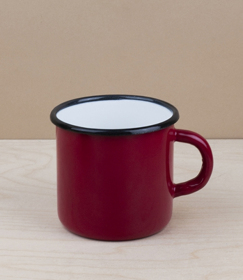 Ukrainian enamel mug 0.4l, red