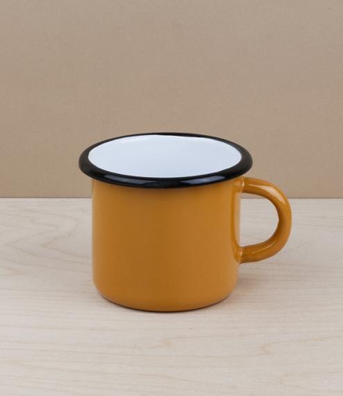 Ukrainian enamel mug 0.4l, yellow