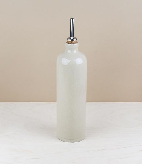 Stoneware oil or vinegar bottle