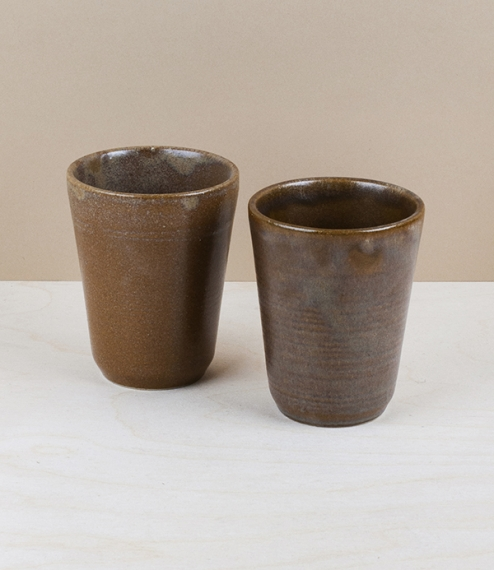 French stoneware tumblers originally produced exclusively by The Manufacture des Grès et Poteries for the containment of soft cheese, these are now pr..