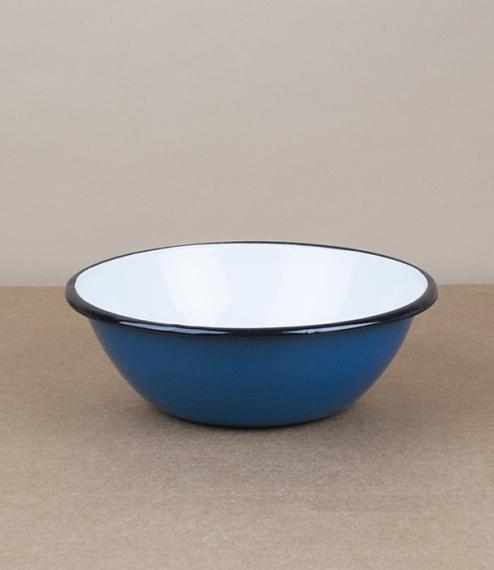 Ukrainian enamel bowl, 15cm, blue
