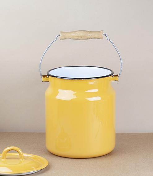 Ukrainian milk cans / kitchen caddies