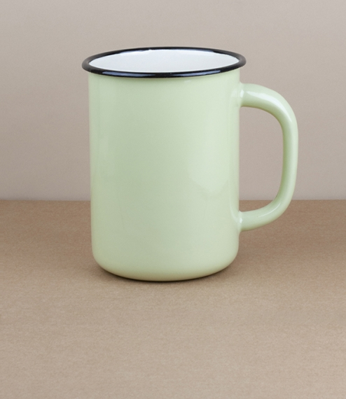 Ukrainian milk or utensil pot, 1.5l, pistachio