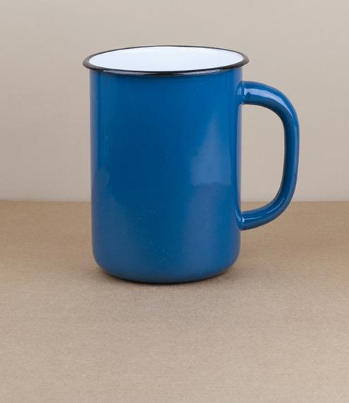 Ukrainian milk or utensil pot, 1.5l, blue