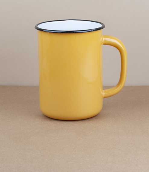 Ukrainian milk or utensil pot, 1.5l, yellow