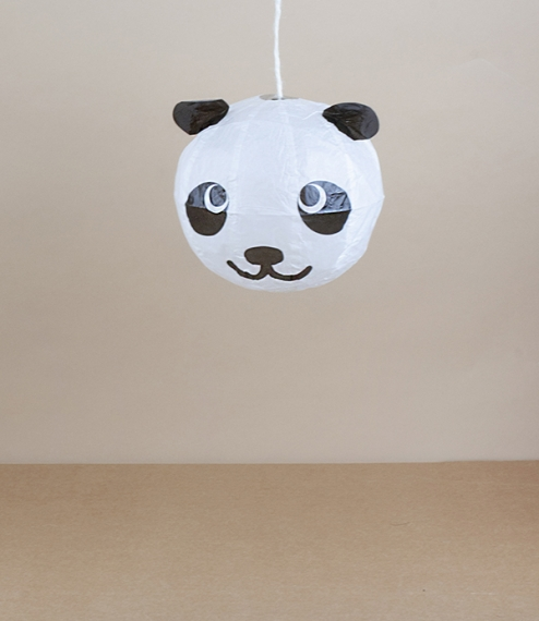 Panda balloon, about 12.5cm diameter
