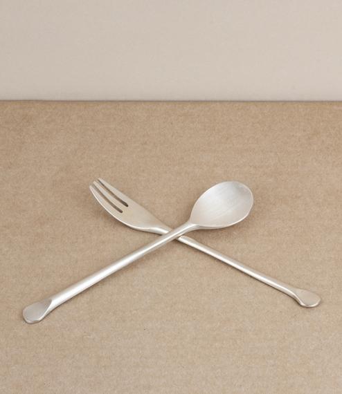 Korean bronze tea cutlery