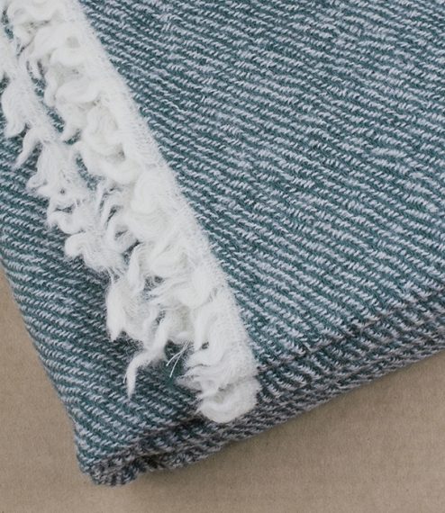 Finnish fine stripe wool blankets