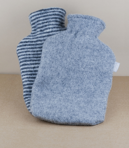 Finnish wool covered hot water bottles
