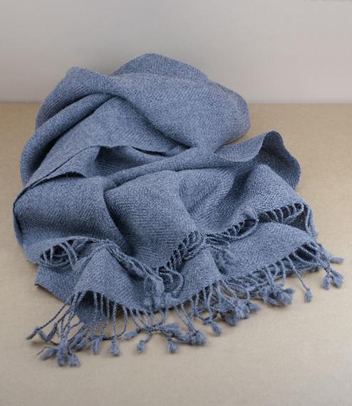 Espina de Pescado, herringbone 100% alpaca scarf, soft grey