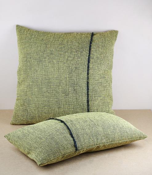 Irish tweed cushions, Gorse
