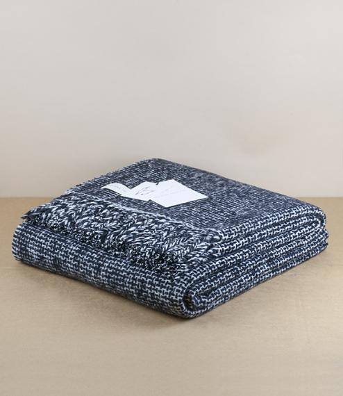 Mended Tweed Blanket - Monochrome V