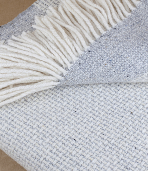 Mended Tweed Blanket - Monochrome IV with Band