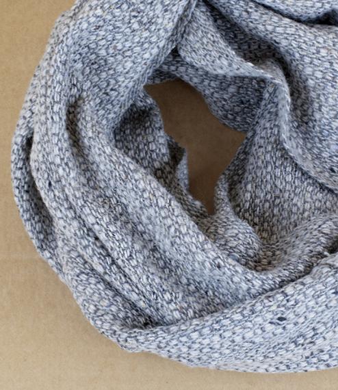 Irish tweed merino, cashmere, and silk neck warmers