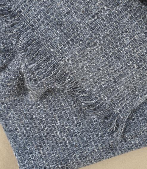 Irish tweed merino, cashmere, and silk scarf