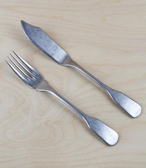 Italian stainless steel fish cutlery