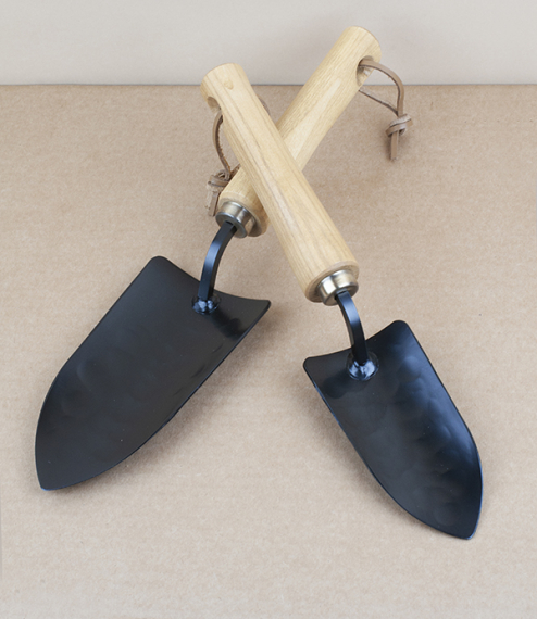 Hand forged Japanese potting trowels
