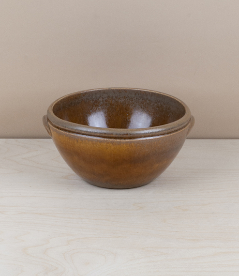 Portuguese terracotta mixing or serving bowl, 17cm