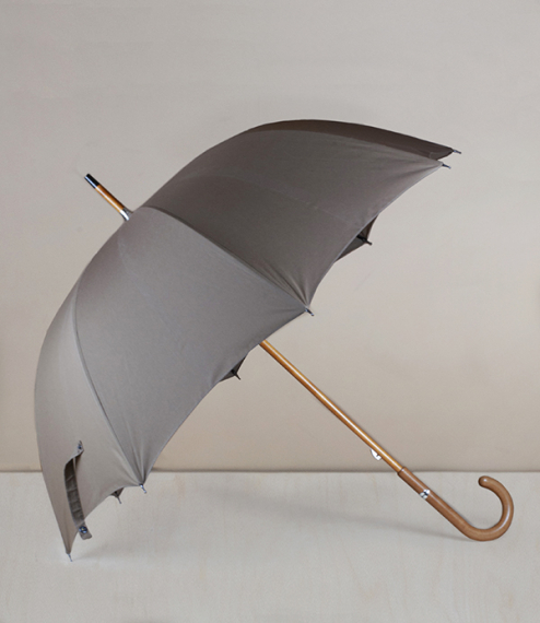French fit-up umbrella-parasol, taupe