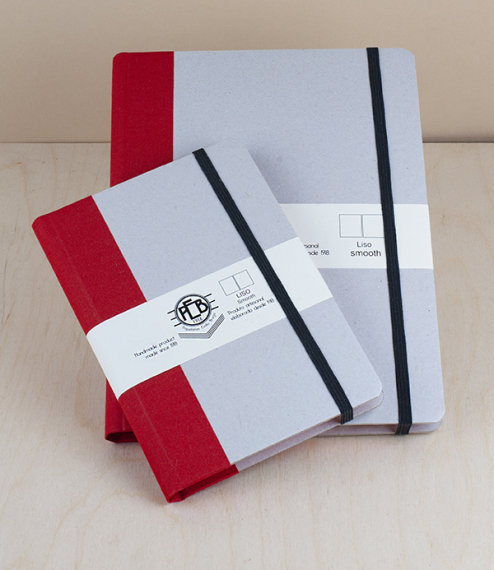 Portuguese notebooks – natural card, with band
