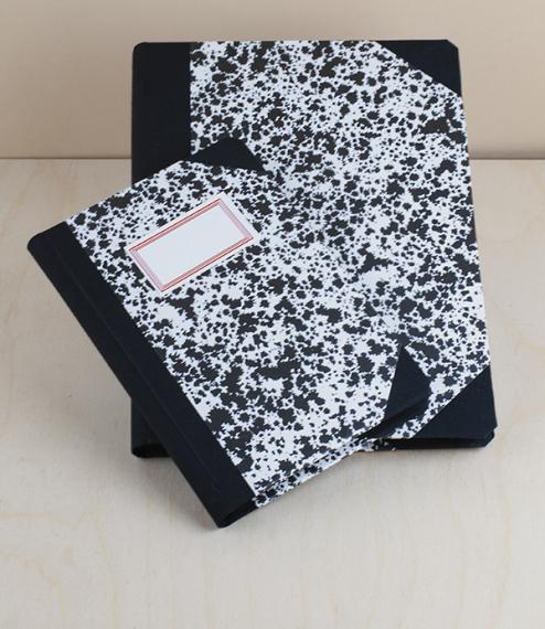 Portuguese notebook, A5, ruled, black