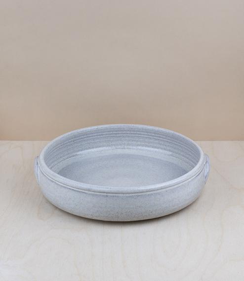 Portuguese terracotta low bowl, medium, about 24cm diameter