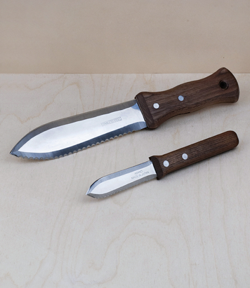 Hori-hori, Japanese walnut handled garden and planting knives