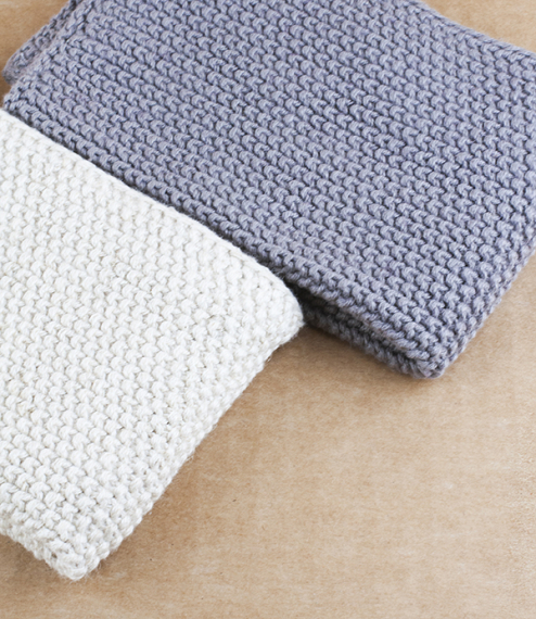 Knitted household cloths